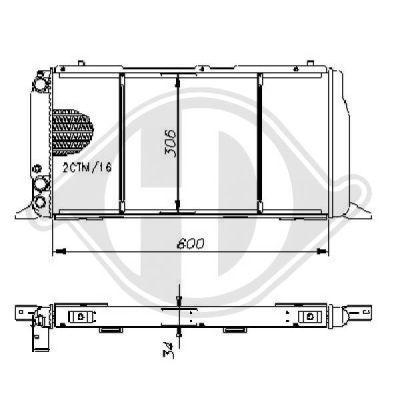 Radiateur, refroidissement du moteur - Diederichs Germany - 8500756