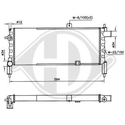 Radiateur, refroidissement du moteur - HDK-Germany - 77HDK8500772