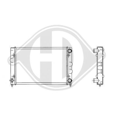Radiateur, refroidissement du moteur - Diederichs Germany - 8500822