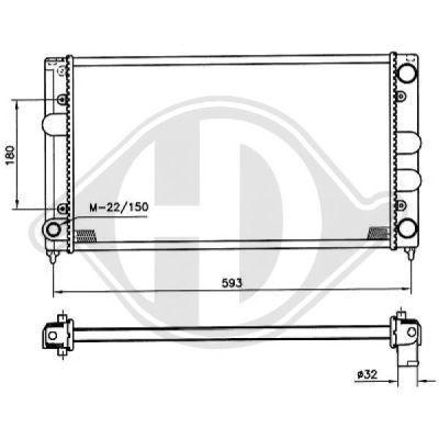 Radiateur, refroidissement du moteur - Diederichs Germany - 8500830
