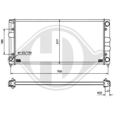 Radiateur, refroidissement du moteur - Diederichs Germany - 8500848