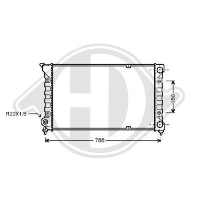 Radiateur, refroidissement du moteur - Diederichs Germany - 8500855
