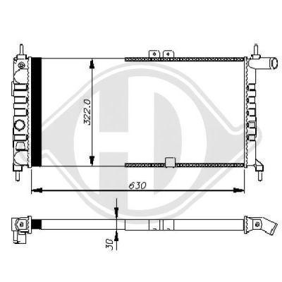 Radiateur, refroidissement du moteur - HDK-Germany - 77HDK8500947