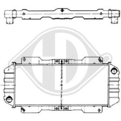 Radiateur, refroidissement du moteur - Diederichs Germany - 8501036