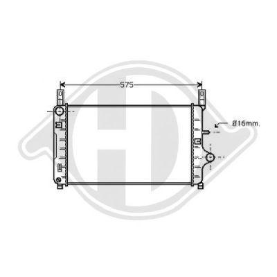 Radiateur, refroidissement du moteur - Diederichs Germany - 8501101