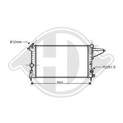 Radiateur, refroidissement du moteur - HDK-Germany - 77HDK8501119