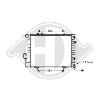 Radiateur, refroidissement du moteur - Diederichs Germany - 8501150