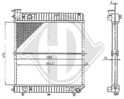 Radiateur, refroidissement du moteur - Diederichs Germany - 8501192