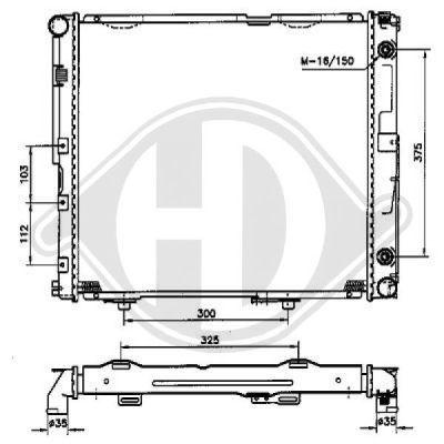 Radiateur, refroidissement du moteur - Diederichs Germany - 8501200