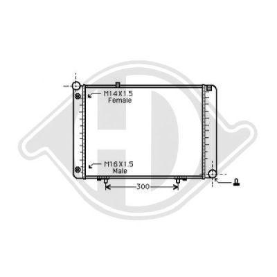 Radiateur, refroidissement du moteur - Diederichs Germany - 8501267