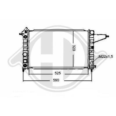 Radiateur, refroidissement du moteur - Diederichs Germany - 8501309