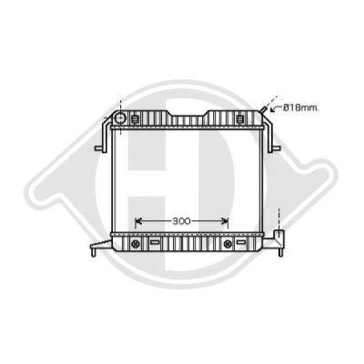 Radiateur, refroidissement du moteur - Diederichs Germany - 8501333