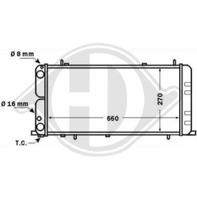 Radiateur, refroidissement du moteur - Diederichs Germany - 8501465
