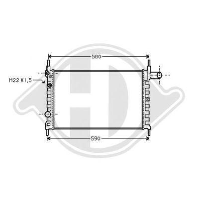 Radiateur, refroidissement du moteur - Diederichs Germany - 8501622