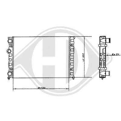 Radiateur, refroidissement du moteur - Diederichs Germany - 8501671