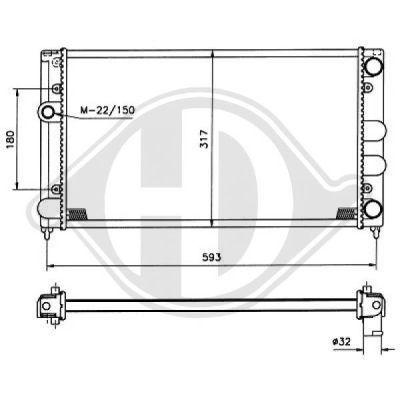 Radiateur, refroidissement du moteur - HDK-Germany - 77HDK8501697