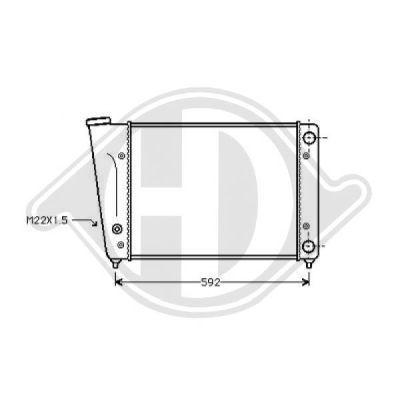 Radiateur, refroidissement du moteur - Diederichs Germany - 8501721