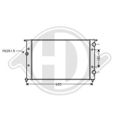 Radiateur, refroidissement du moteur - Diederichs Germany - 8501754