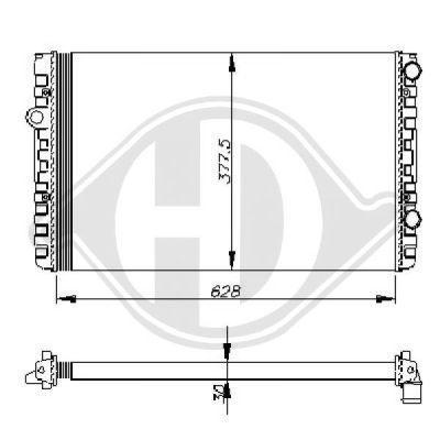 Radiateur, refroidissement du moteur - HDK-Germany - 77HDK8501762