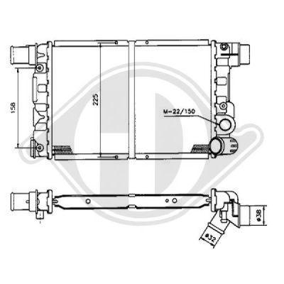 Radiateur, refroidissement du moteur - Diederichs Germany - 8501796