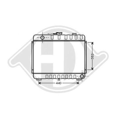 Radiateur, refroidissement du moteur - Diederichs Germany - 8501937
