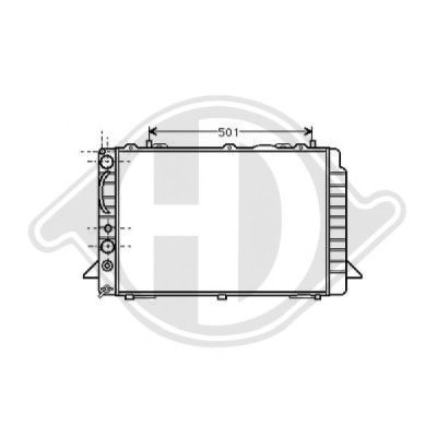 Radiateur, refroidissement du moteur - HDK-Germany - 77HDK8501945