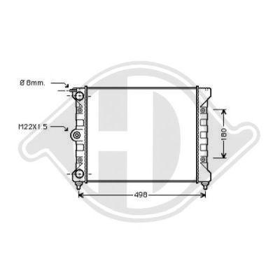 Radiateur, refroidissement du moteur - Diederichs Germany - 8502018