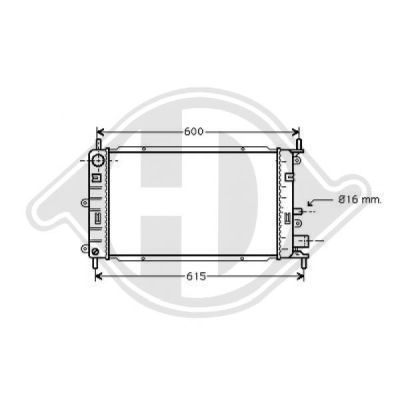 Radiateur, refroidissement du moteur - Diederichs Germany - 8502083