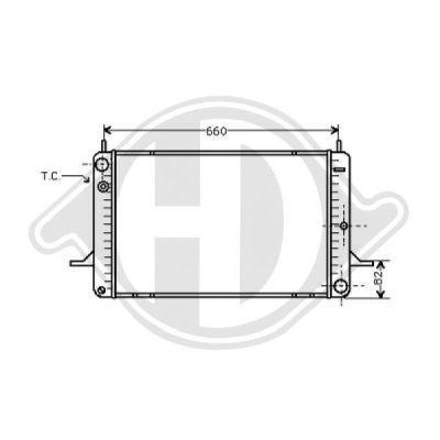 Radiateur, refroidissement du moteur - Diederichs Germany - 8502091
