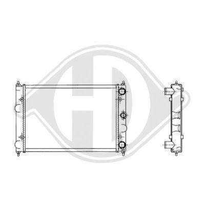 Radiateur, refroidissement du moteur - Diederichs Germany - 8502109