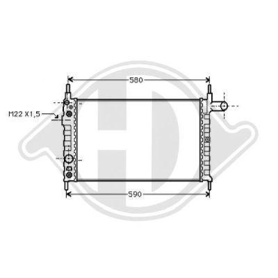 Radiateur, refroidissement du moteur - Diederichs Germany - 8502224