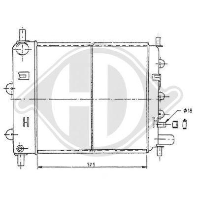 Radiateur, refroidissement du moteur - Diederichs Germany - 8502331