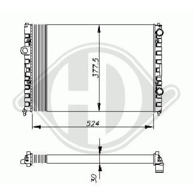Radiateur, refroidissement du moteur - HDK-Germany - 77HDK8502455