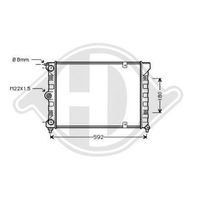 Radiateur, refroidissement du moteur - Diederichs Germany - 8502620
