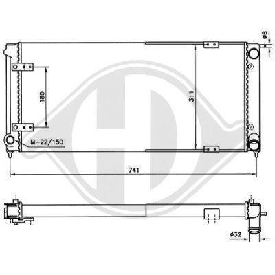 Radiateur, refroidissement du moteur - Diederichs Germany - 8502638