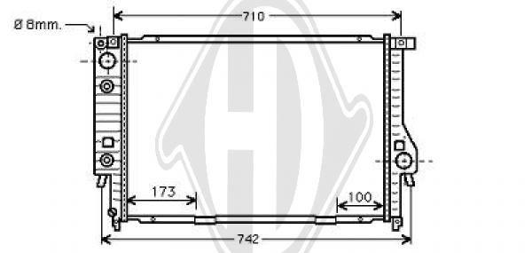Radiateur, refroidissement du moteur - Diederichs Germany - 8502760