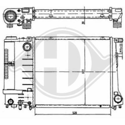 Radiateur, refroidissement du moteur - HDK-Germany - 77HDK8502786