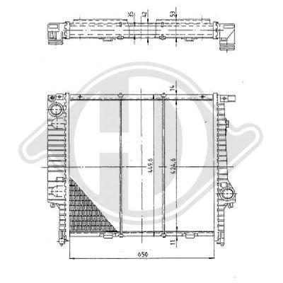 Radiateur, refroidissement du moteur - HDK-Germany - 77HDK8502802