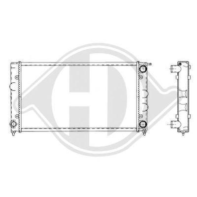 Radiateur, refroidissement du moteur - Diederichs Germany - 8503081