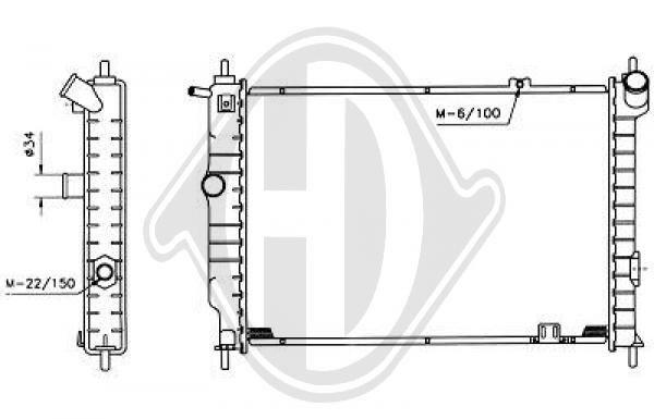 Radiateur, refroidissement du moteur - HDK-Germany - 77HDK8503172