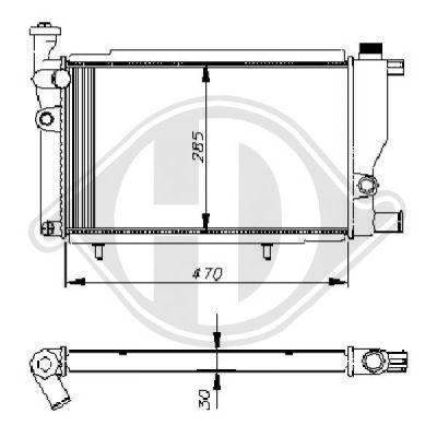 Radiateur, refroidissement du moteur - Diederichs Germany - 8503222