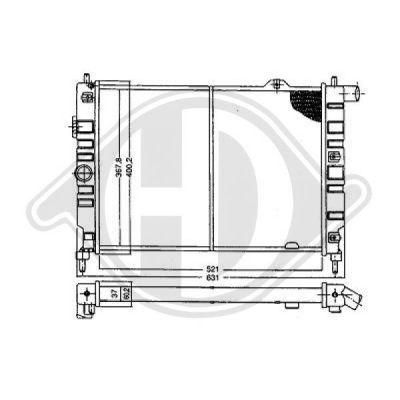 Radiateur, refroidissement du moteur - HDK-Germany - 77HDK8503230