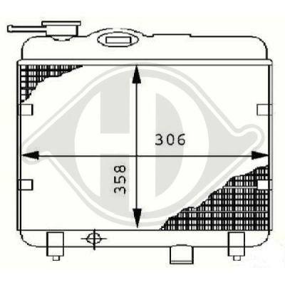 Radiateur, refroidissement du moteur - HDK-Germany - 77HDK8503412