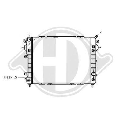 Radiateur, refroidissement du moteur - HDK-Germany - 77HDK8503842