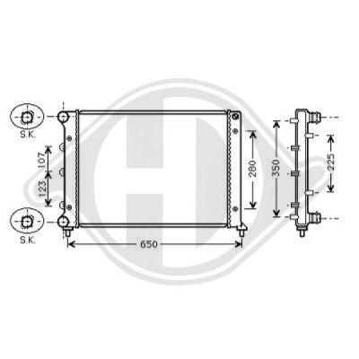 Radiateur, refroidissement du moteur - Diederichs Germany - 8504100