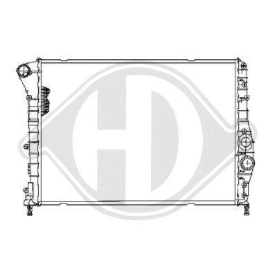 Radiateur, refroidissement du moteur - Diederichs Germany - 8504101