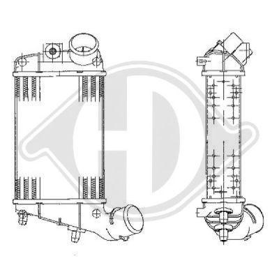 Intercooler, échangeur - Diederichs Germany - 8504102