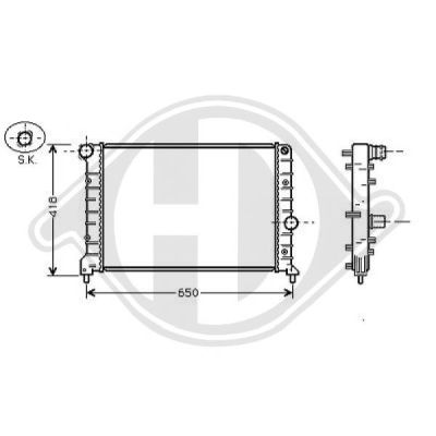 Radiateur, refroidissement du moteur - HDK-Germany - 77HDK8504104