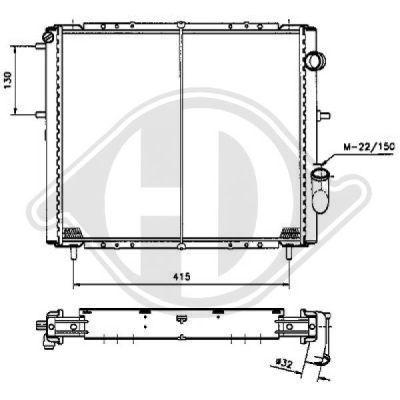 Radiateur, refroidissement du moteur - Diederichs Germany - 8504105