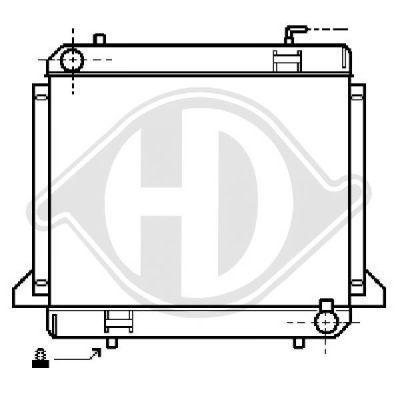 Radiateur, refroidissement du moteur - Diederichs Germany - 8504360